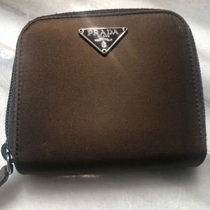 Prada Nylon Zip around coin purse.